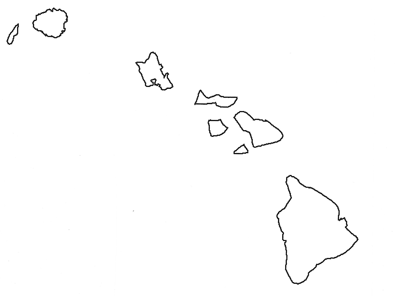Outline Map Of Hawaiian Islands With Hawaii Map Security Guard